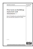 Fire Tests On Building Materials And Structures. Classification And Method Of Test For External Fire Exposure To Roofs book jacket image