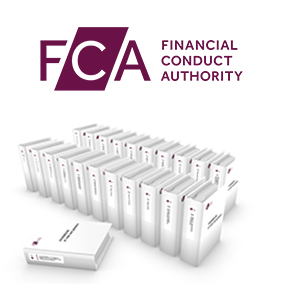 Financial Conduct Authority logo and binders