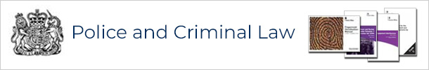 Police and Criminal Law crown logo and product image examples
