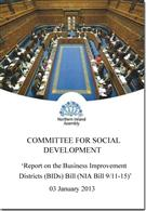 Report on the Business Improvement Districts (BIDs) Bill (NIA Bill 9/11-15) - Front